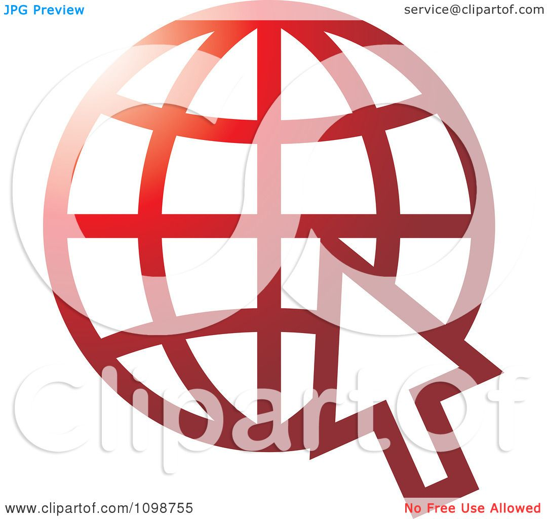 Clipart red grid internet globe and computer cursor royalty free clipart red grid internet globe and computer cursor royalty free vector illustration by lal perera biocorpaavc