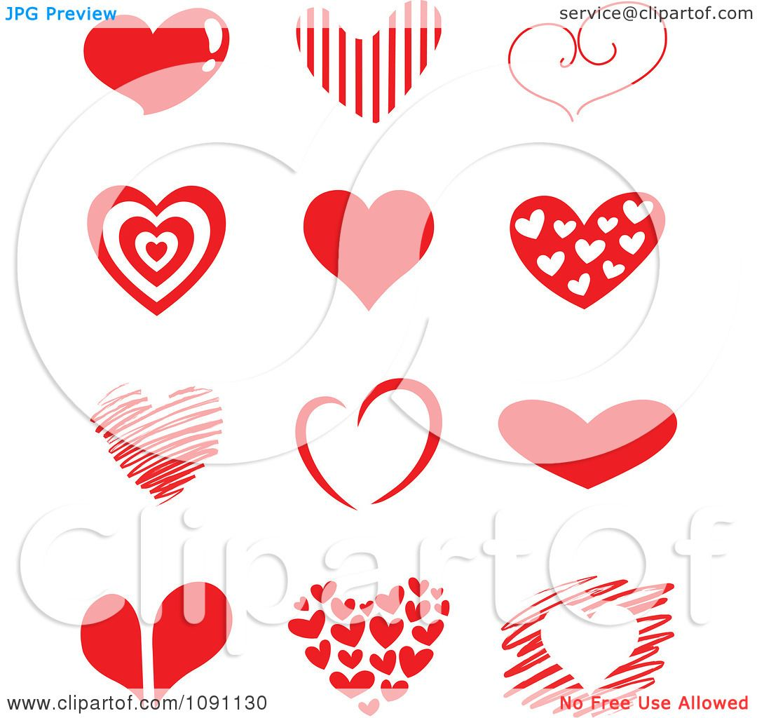 Clipart red heart designs royalty free vector for Free clipart no copyright