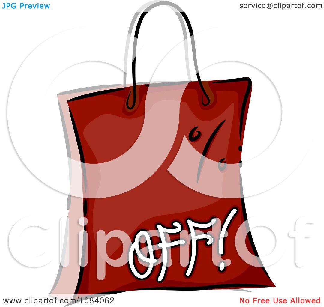 Clipart Red Percent Off Shopping Bag - Royalty Free Vector ...