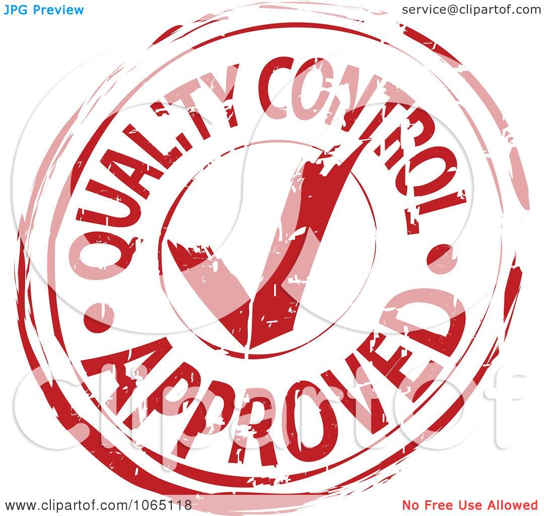 Clipart Red Quality Control Approved Stamp - Royalty Free ...