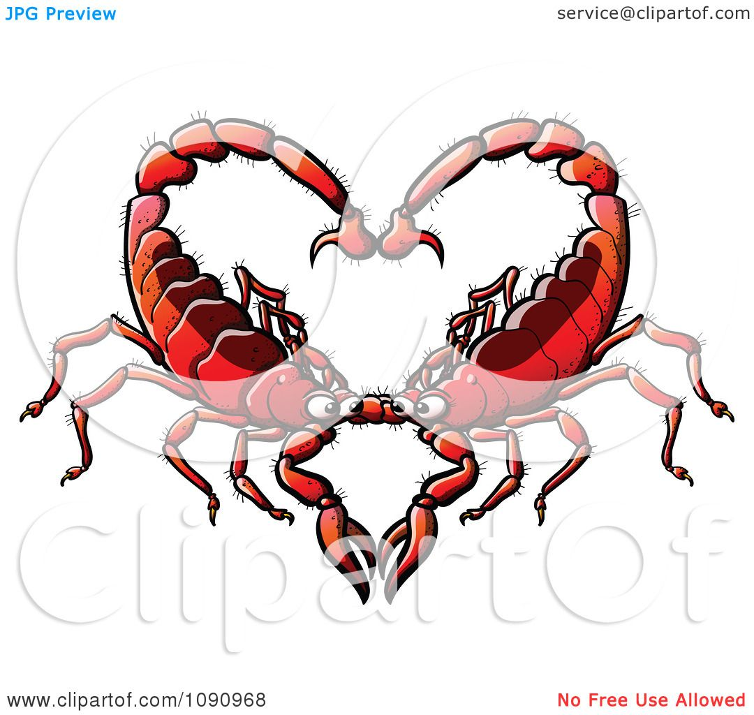 clipart red scorpion couple forming a heart royalty free vector illustration by zooco 1090968. Black Bedroom Furniture Sets. Home Design Ideas