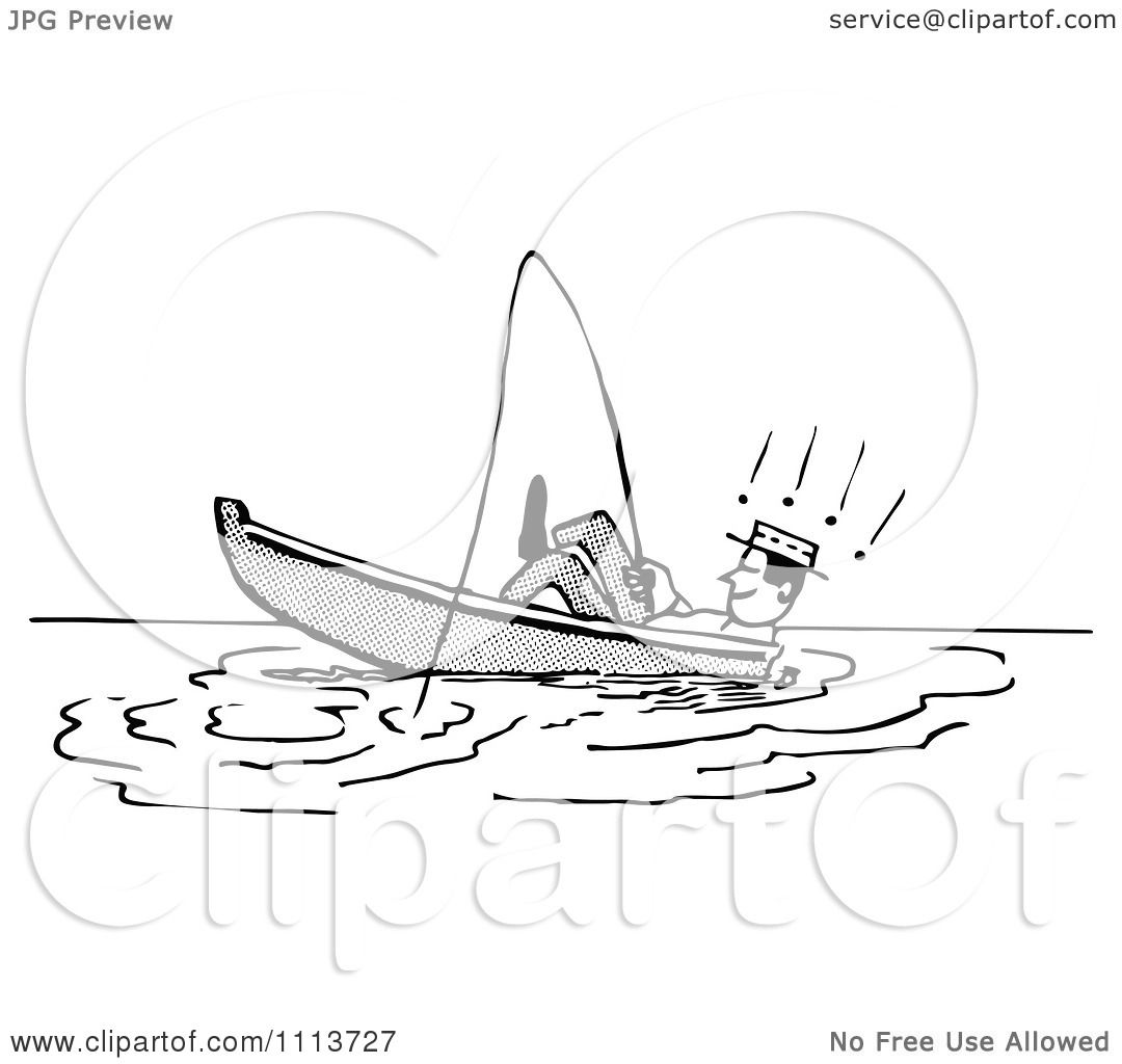 Fishing boat clipart black and white