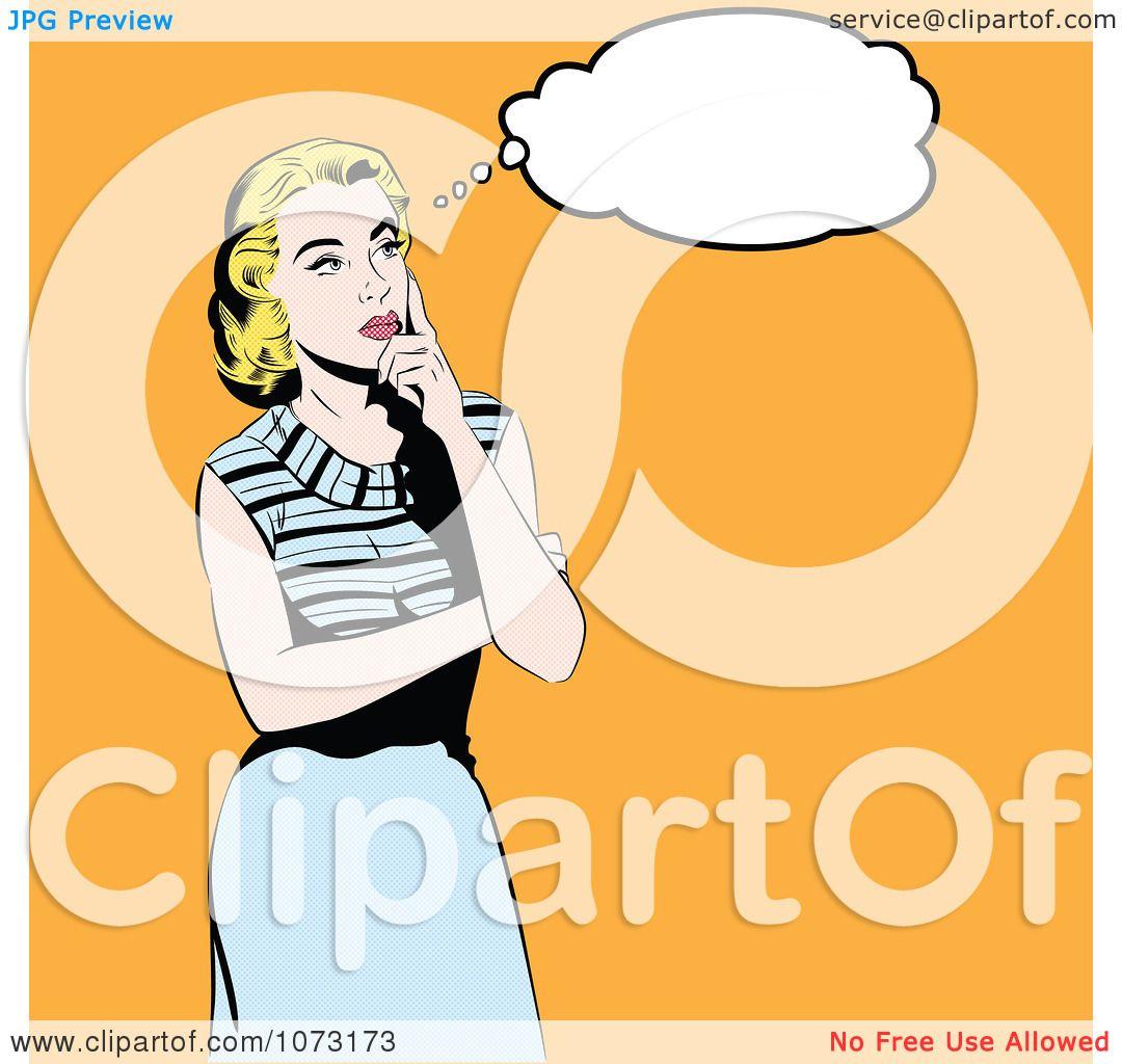 Clipart Retro Blond Pop Art