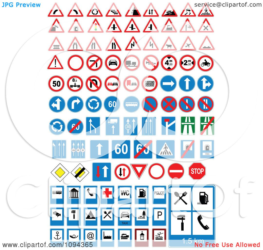 Clipart Road Signs - Royalty Free Vector Illustration by leonid ...