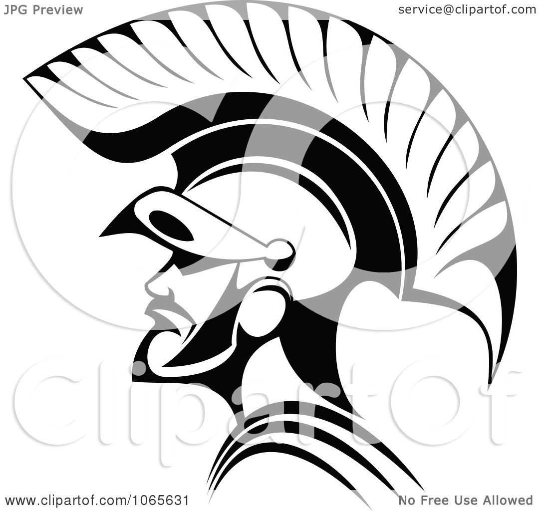 clipart roman soldier and helmet 2 royalty free vector