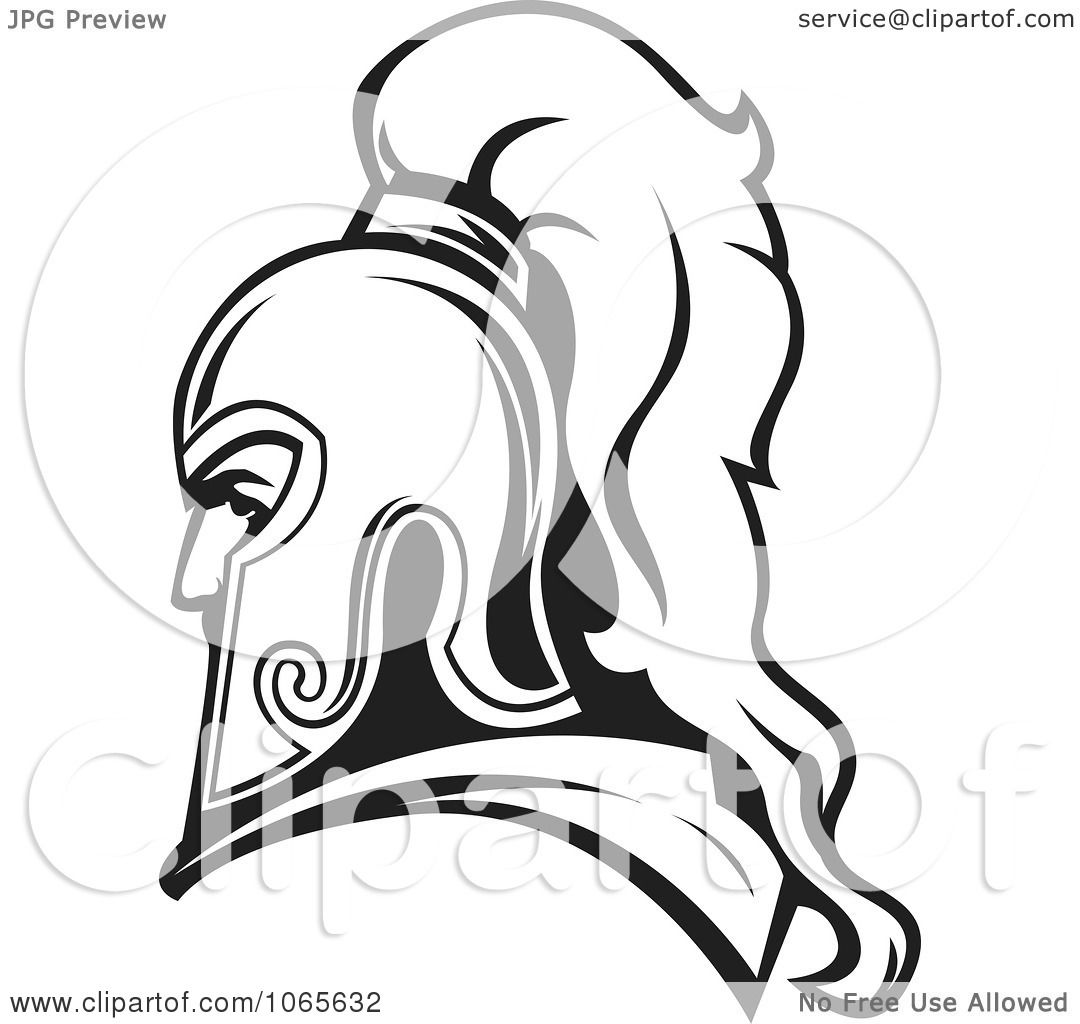 Clipart Roman Soldier And Helmet 7 Royalty Free Vector