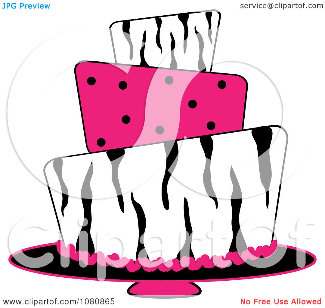 clipart round three tiered funky zebra print and pink polka dot rh clipartof com  zebra print numbers clipart