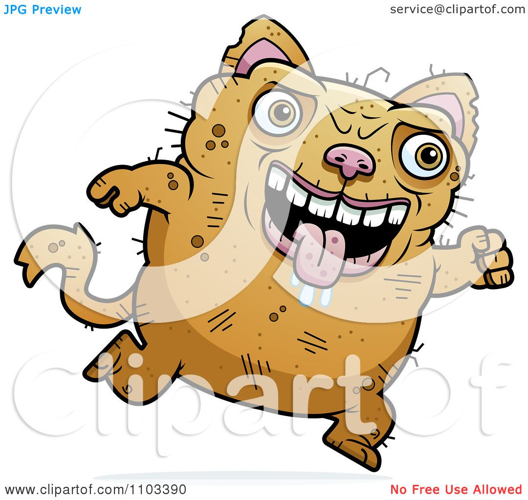 Clipart Running Ugly Cat Royalty Free Vector Illustration By Cory Thoman 1103390