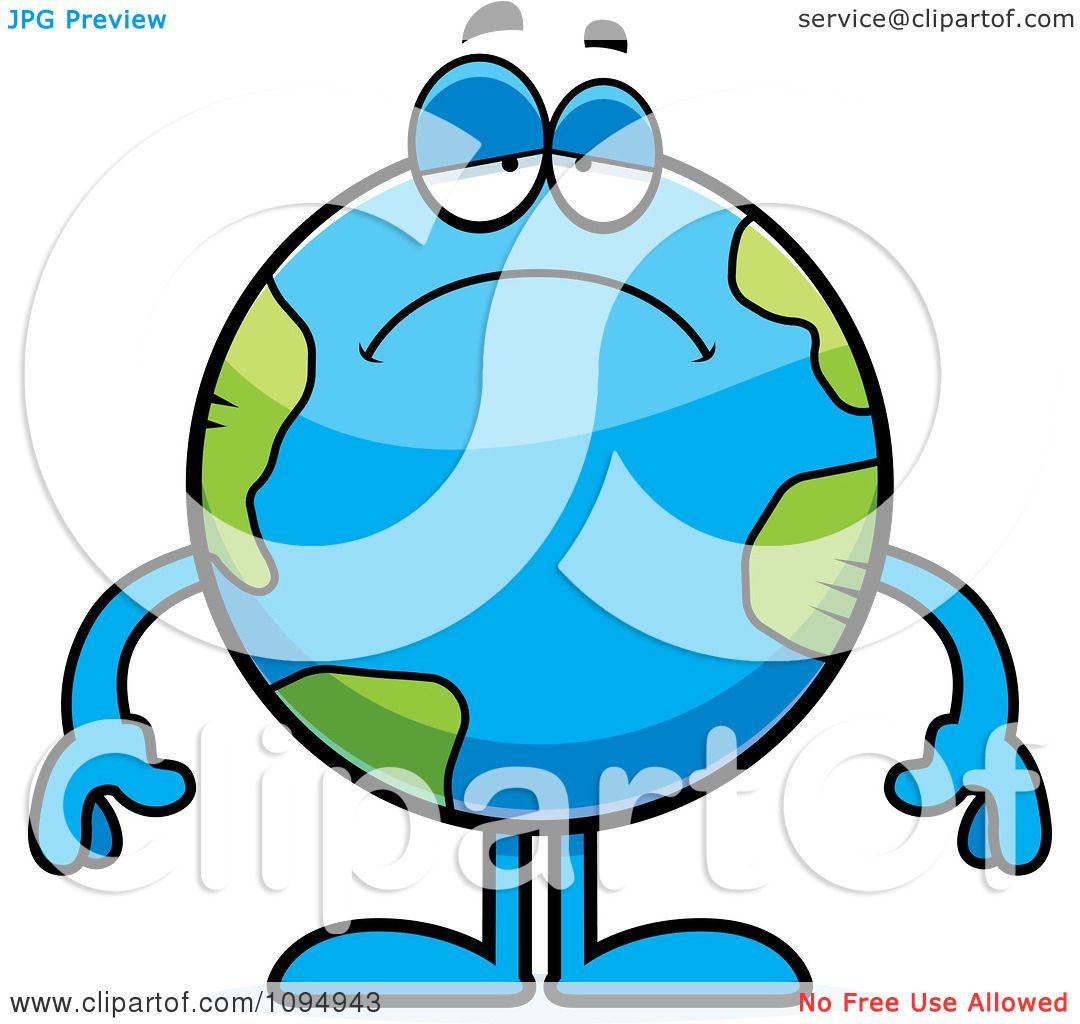 Clipart Sad Earth Globe Royalty