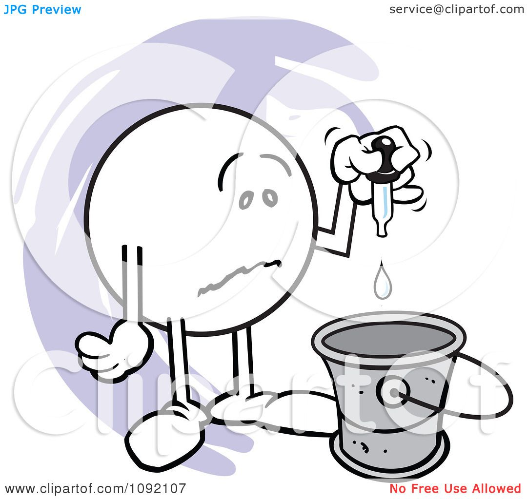 Clipart Sad Moodie Character Putting A Drop In The Bucket ...