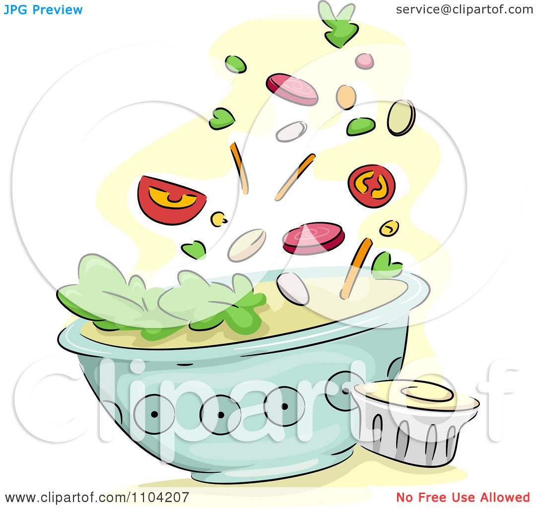 Macaroni Salad Clipart Clipart Salad Toppings Falling