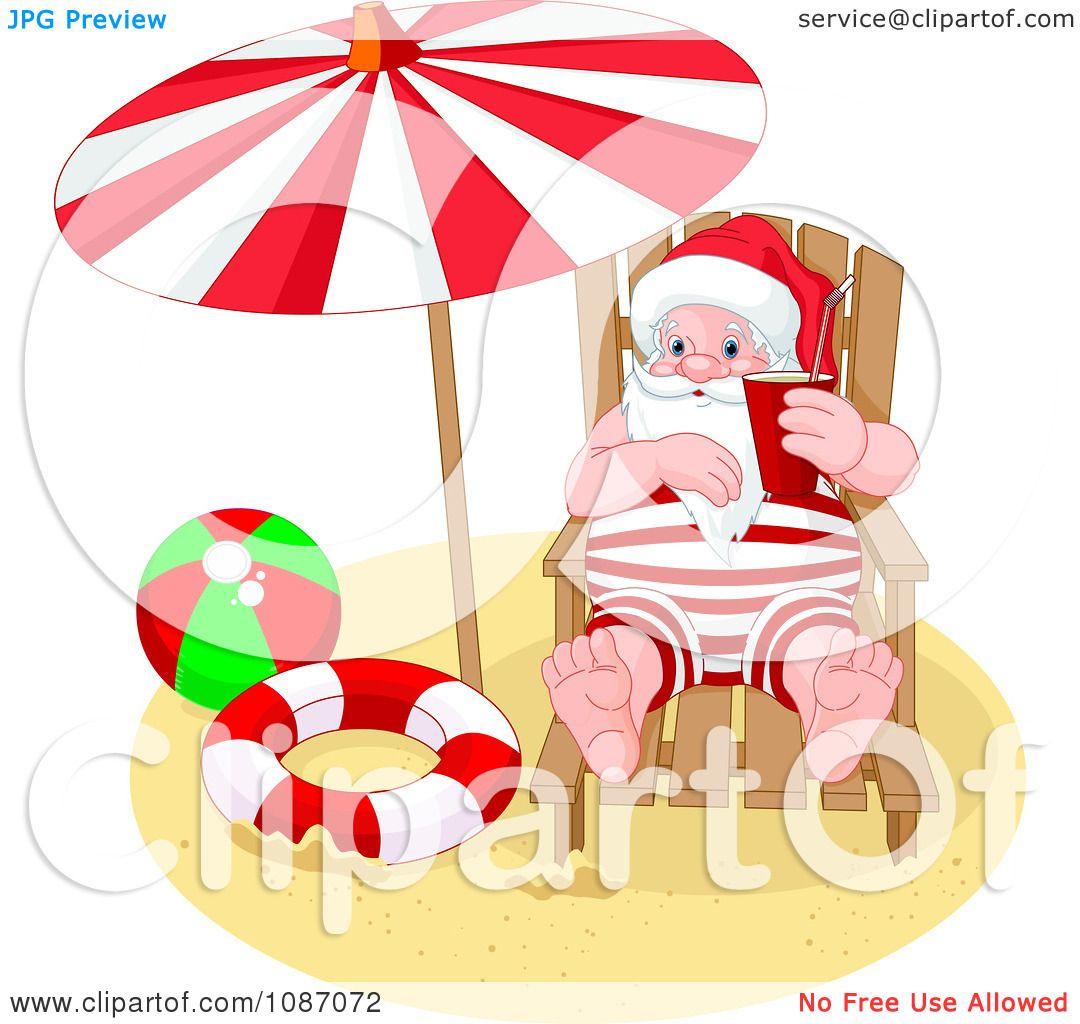 free clipart santa on the beach - photo #7