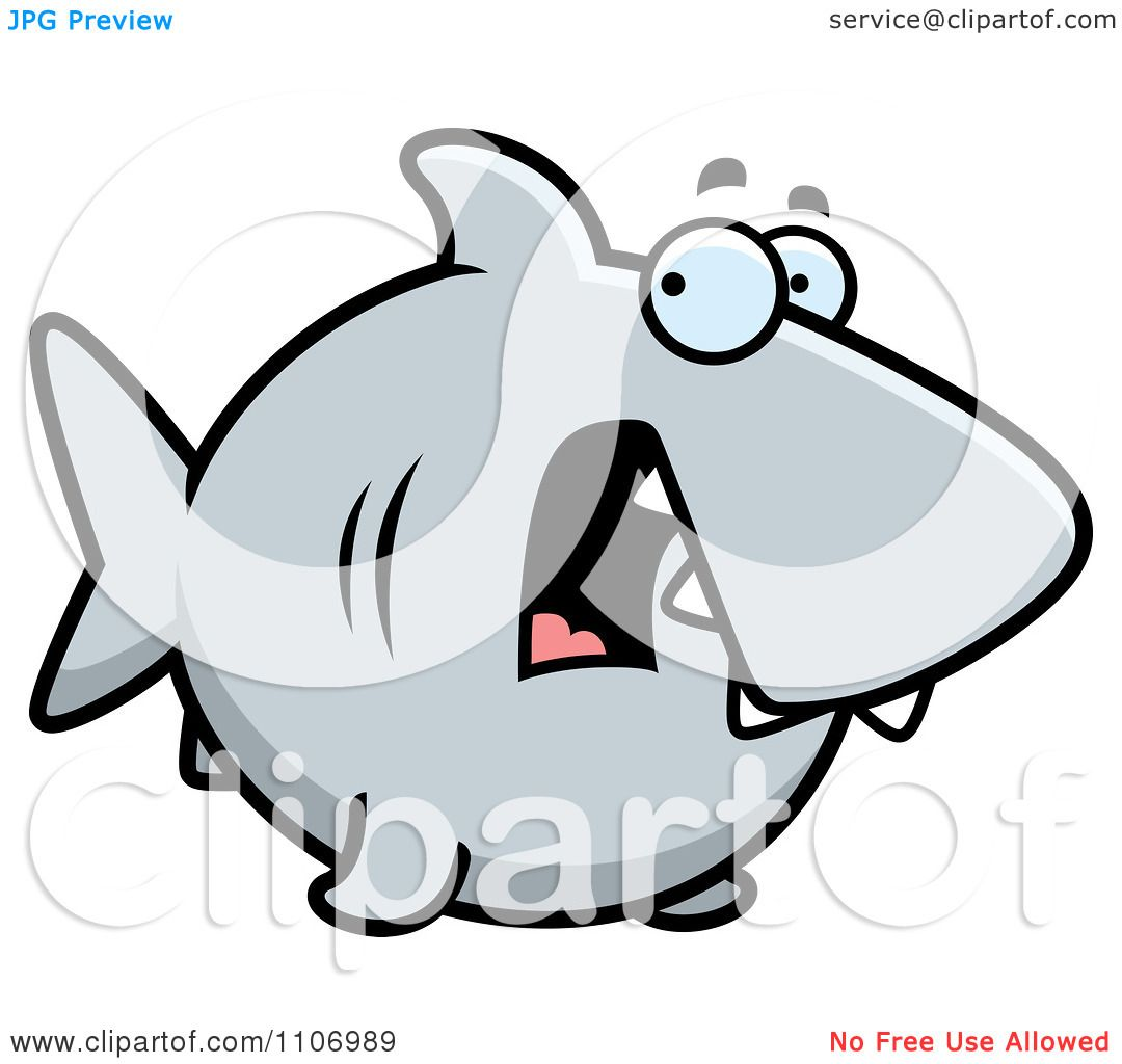 Clipart scared shark royalty free vector illustration by - Clipart illustration ...