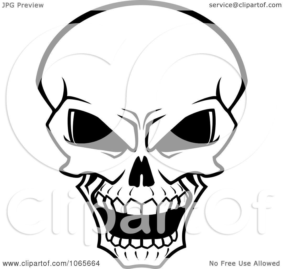 Clipart Scary Skull 1 Royalty