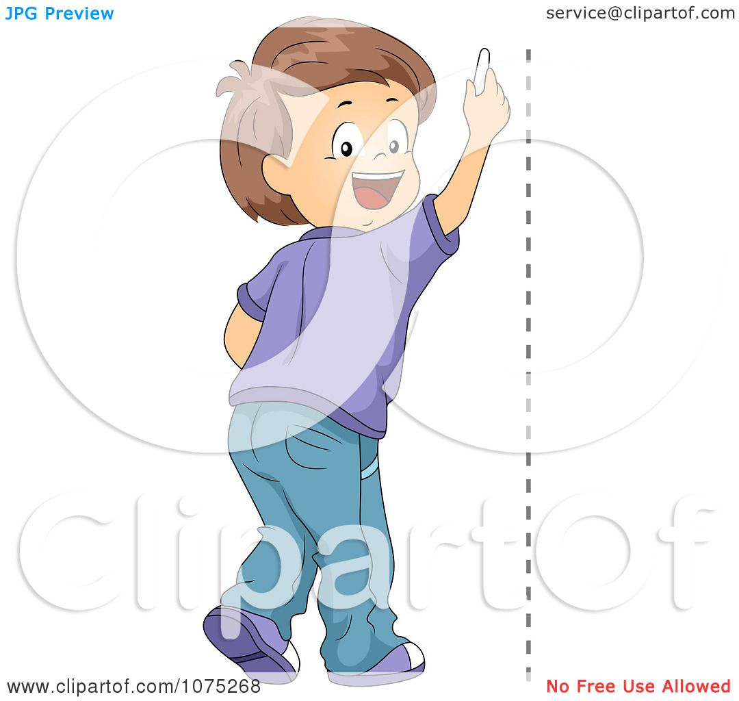 Drawing Vertical Lines In Html : Clipart school boy drawing a vertical line royalty free