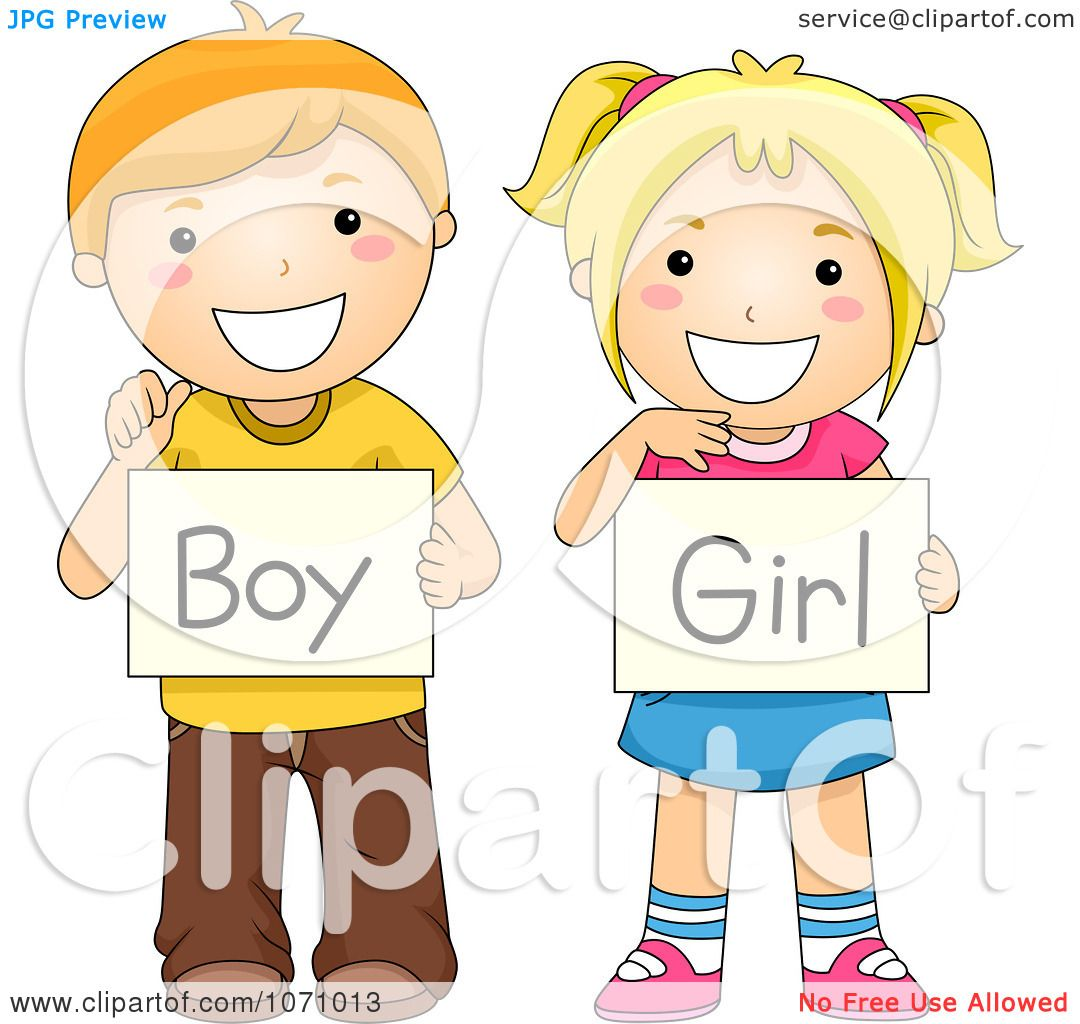 clipart school children holding boy and girl gender signs royalty rh clipartof com Free Clip Art Borders for Teachers Free Clip Art Borders for Teachers