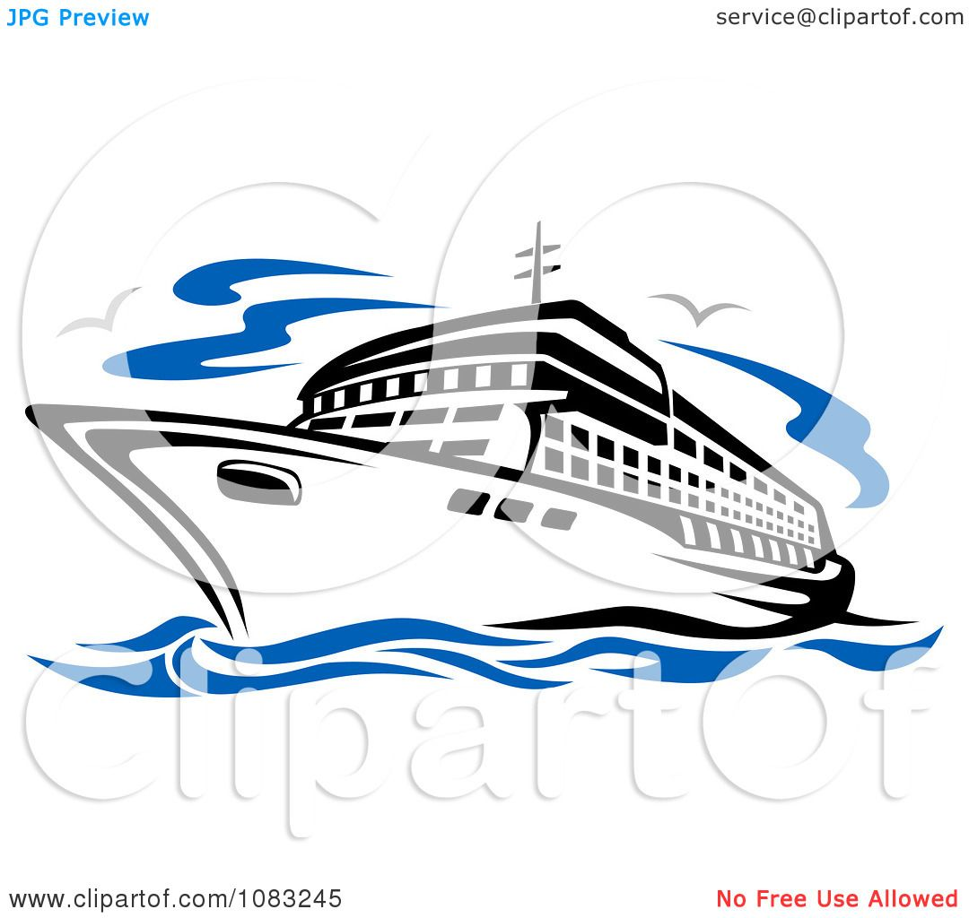 Clipart Seagulls And A Cruise Ship - Royalty Free Vector Illustration ...: www.clipartof.com/portfolio/seamartini/illustration/seagulls-and-a...