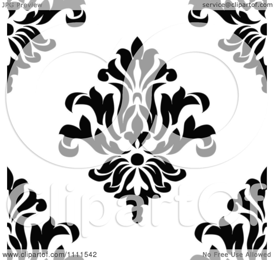 Vintage Floral Patterns Black And White