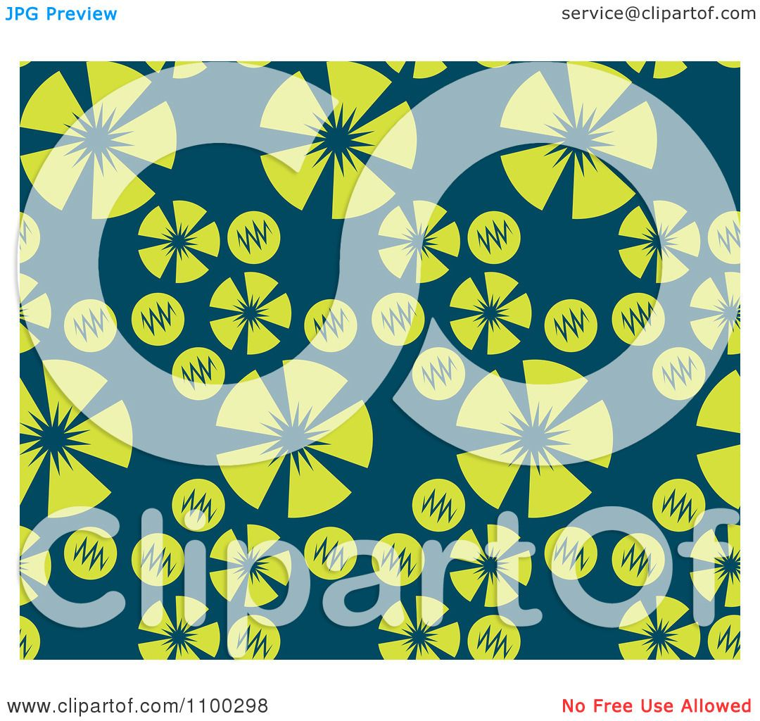 Clipart Seamless Pink Purple And Green Floral Burst