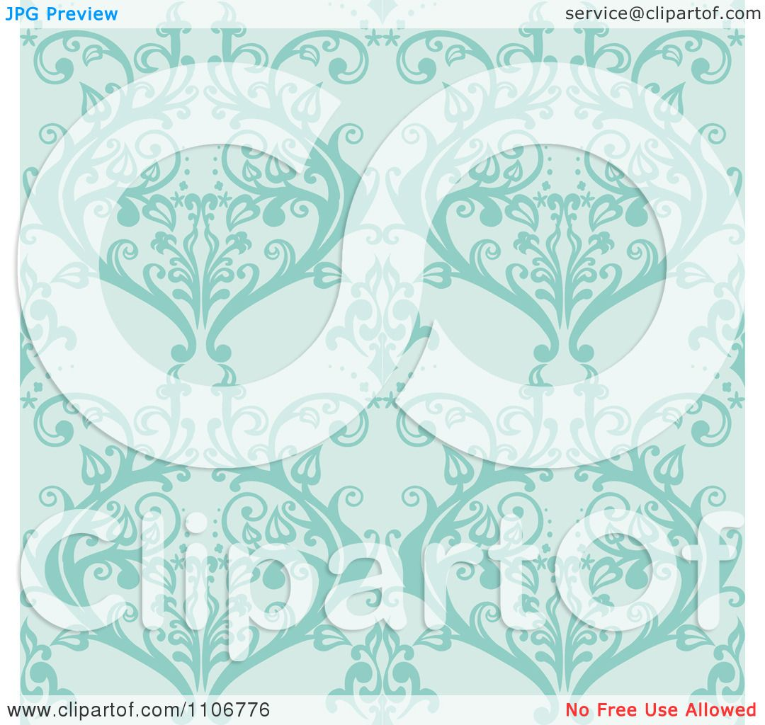 clipart seamless lacy turquoise damask background pattern