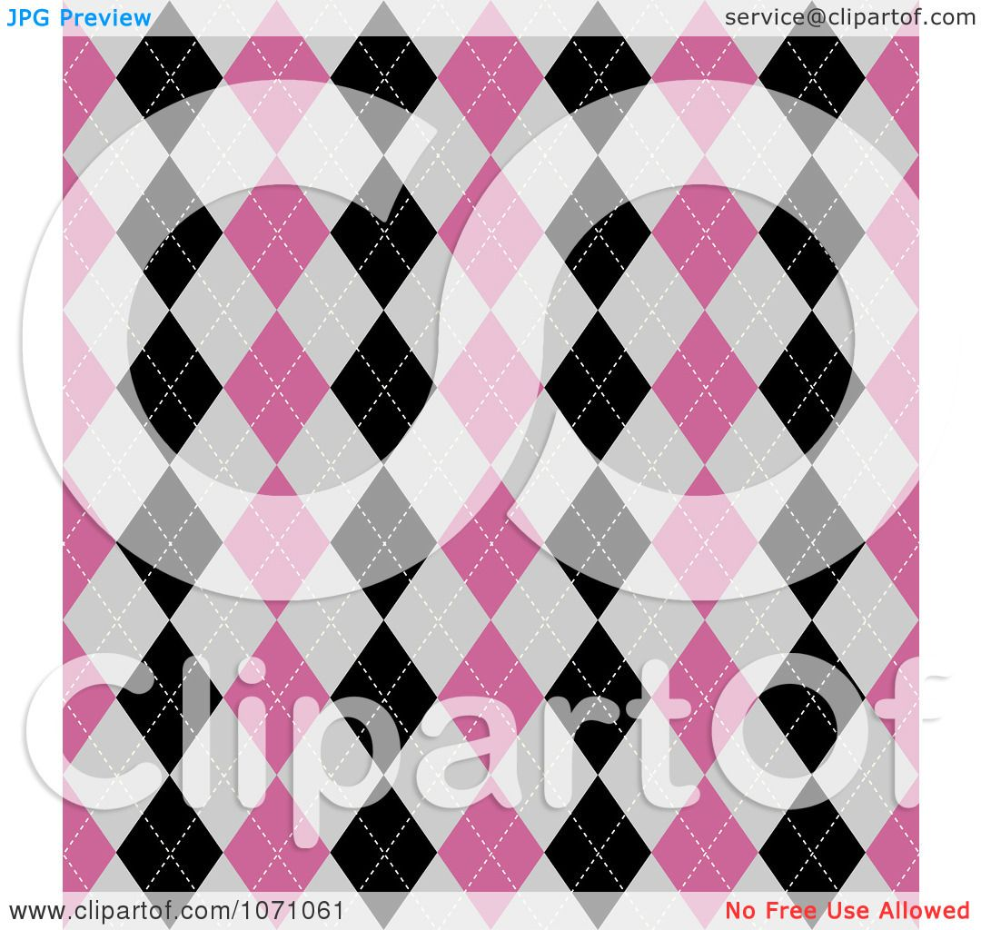 Clipart Seamless Pink Purple And Green Floral Burst: Clipart Seamless Pink Gray And Black Diamond Argyle