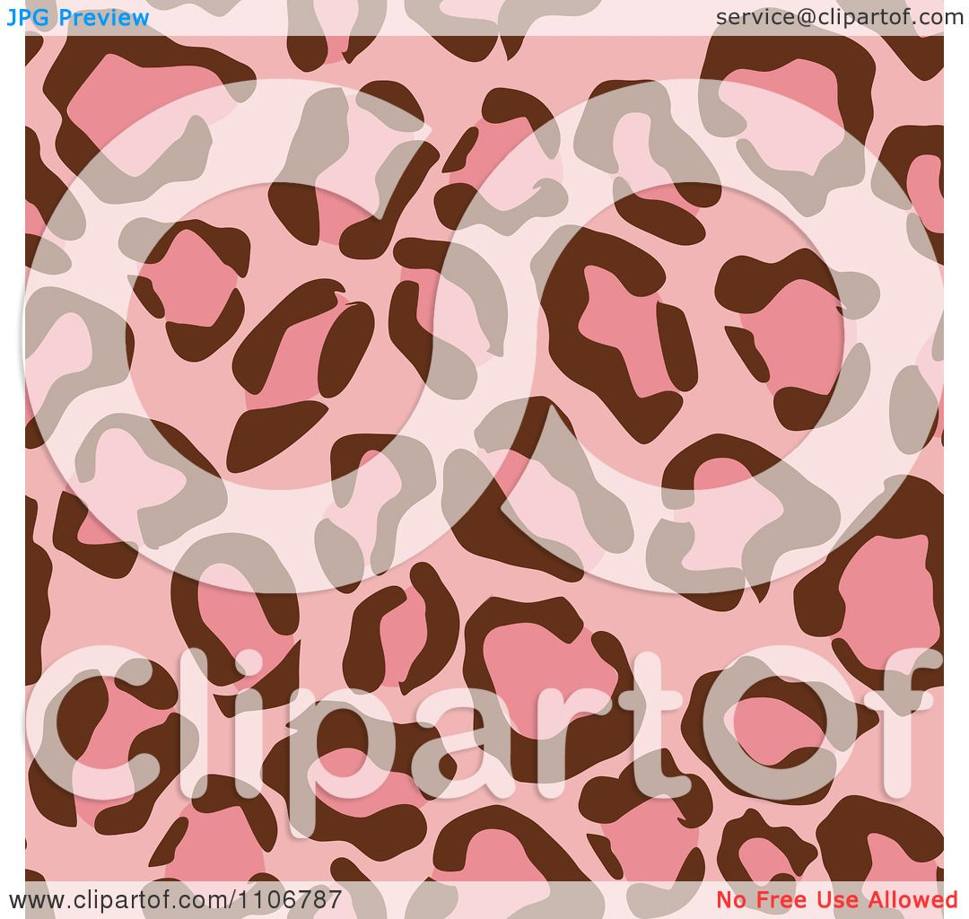 ee63bc6025 Clipart Seamless Pink Leopard Print Background Pattern 1 - Royalty Free  Vector Illustration by Amanda Kate