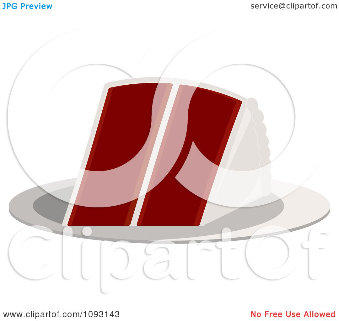 Red Cake Clipart : Clipart Serving Of Red Velvet Cake - Royalty Free Vector ...