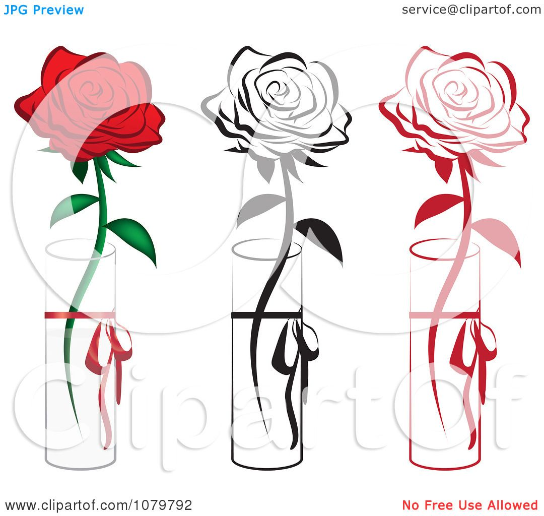 Clipart set of red and black single roses in vases royalty free clipart set of red and black single roses in vases royalty free vector illustration by vitmary rodriguez reviewsmspy