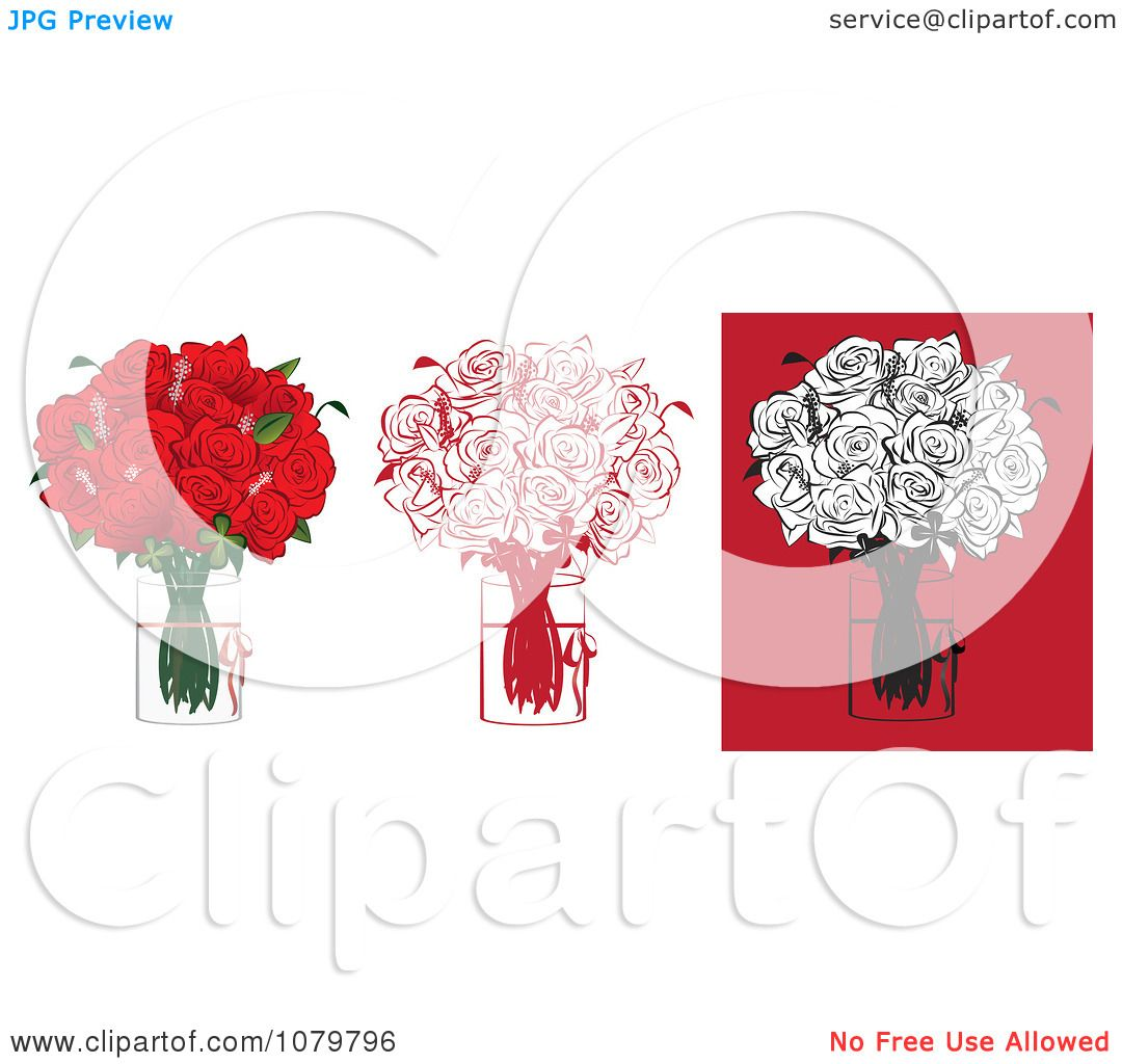 Clipart sets of a dozen red and black floral arrangements of roses clipart sets of a dozen red and black floral arrangements of roses in vases royalty free vector illustration by vitmary rodriguez reviewsmspy