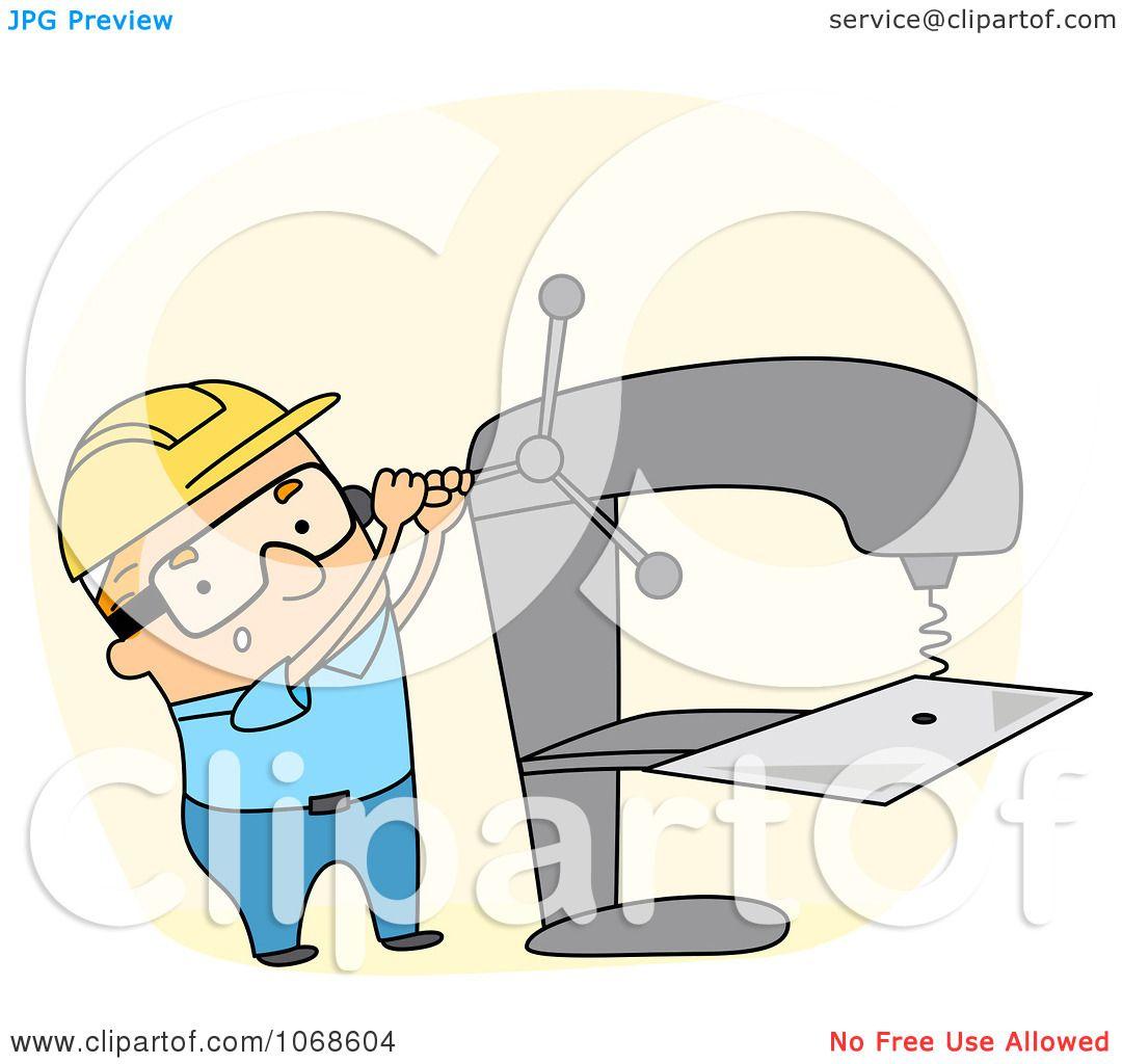 Clipart Sheet Metal Worker Royalty Free Vector Illustration By Bnp Design Studio