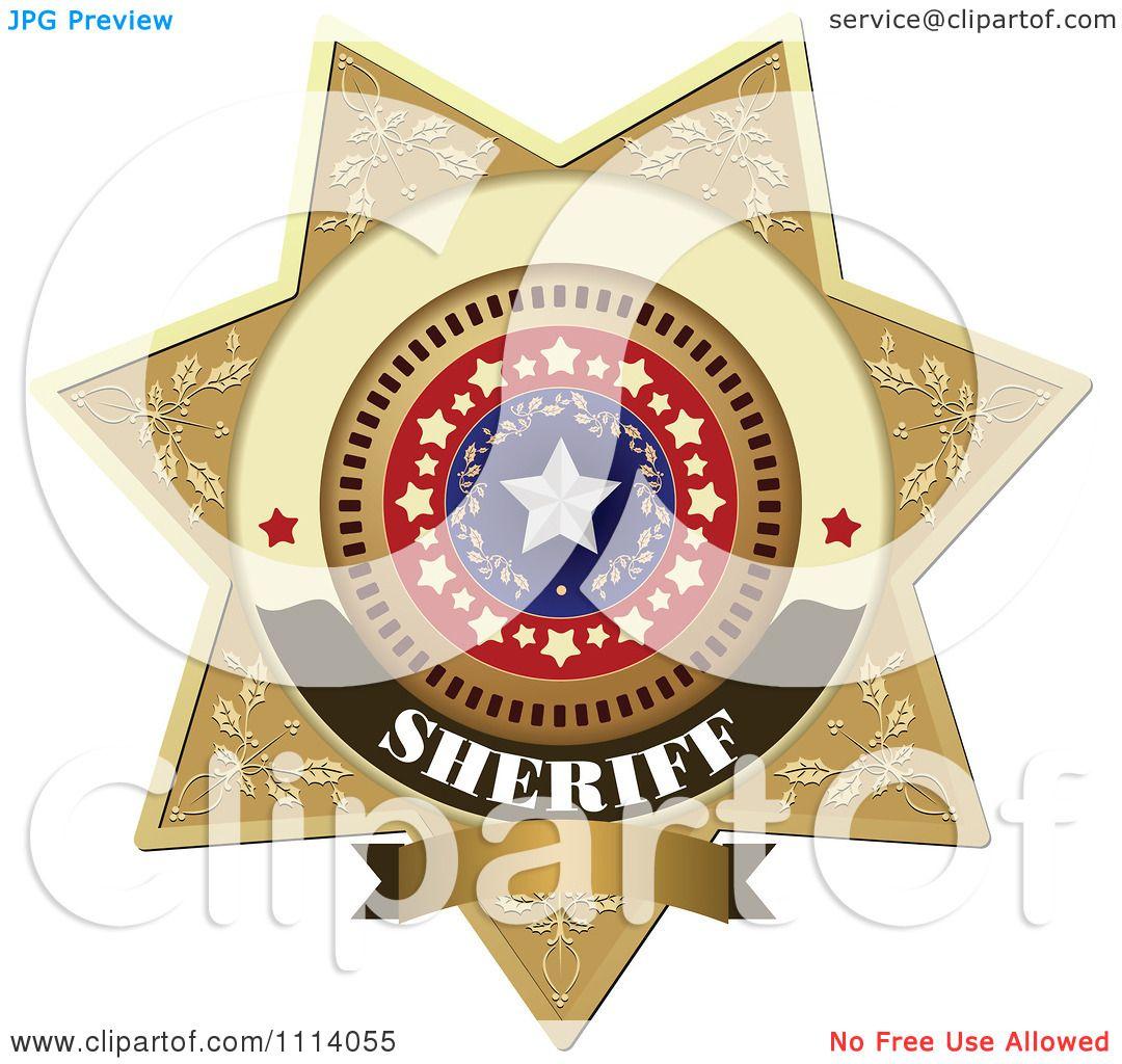 Sheriff Badge Clip Art Clipart sheriff badge 4