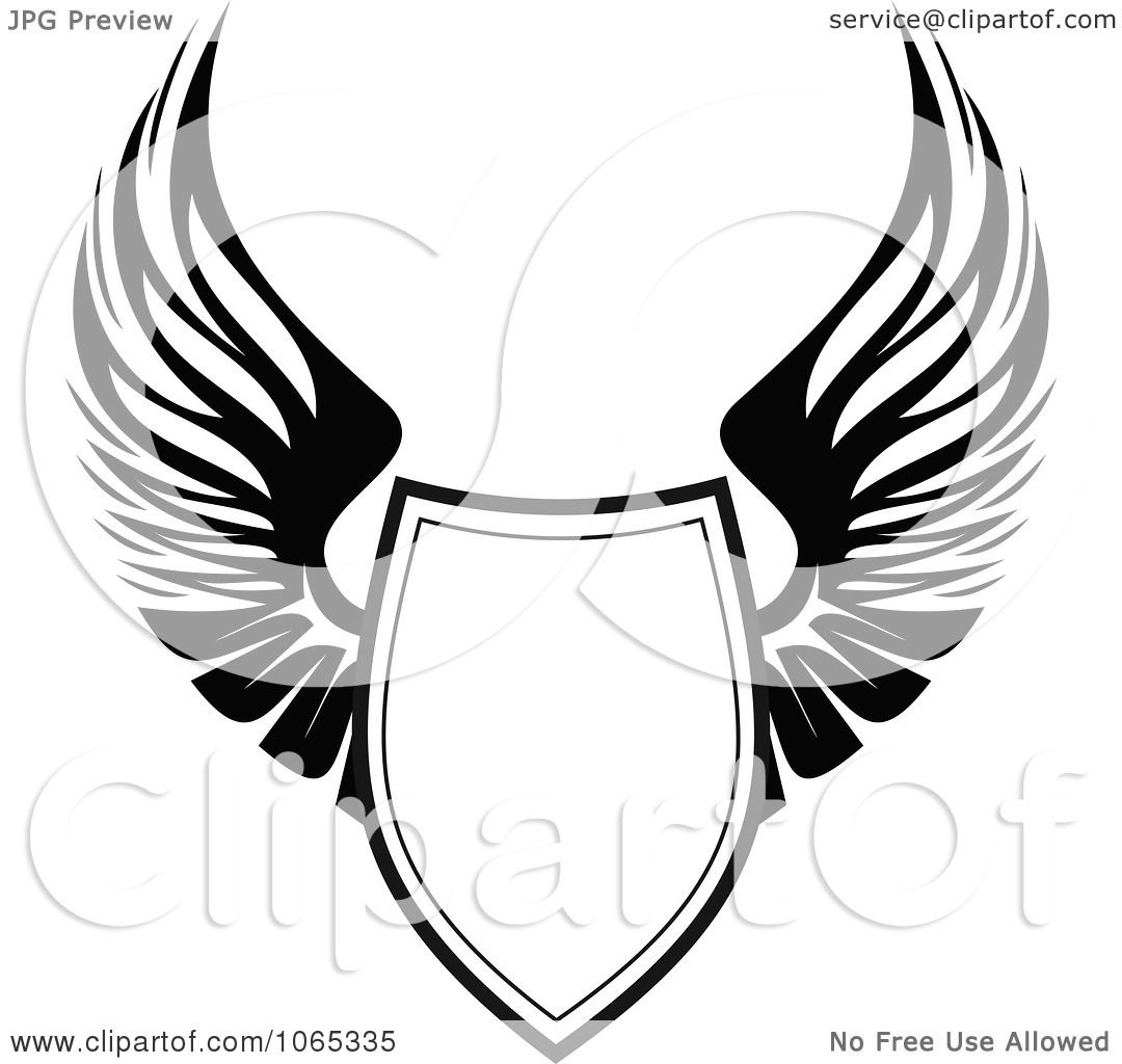 Clipart Shield With Wings 11  Eagle Wings Vector