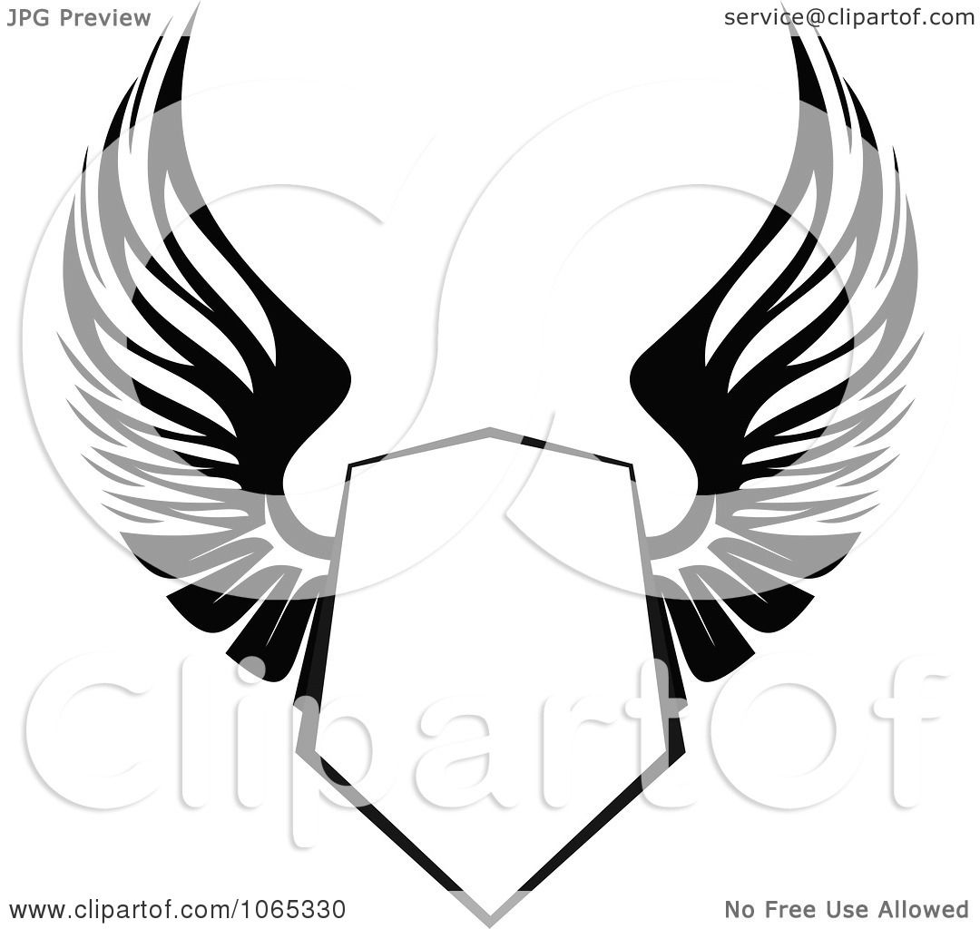 clipart shield with wings 13 royalty free vector