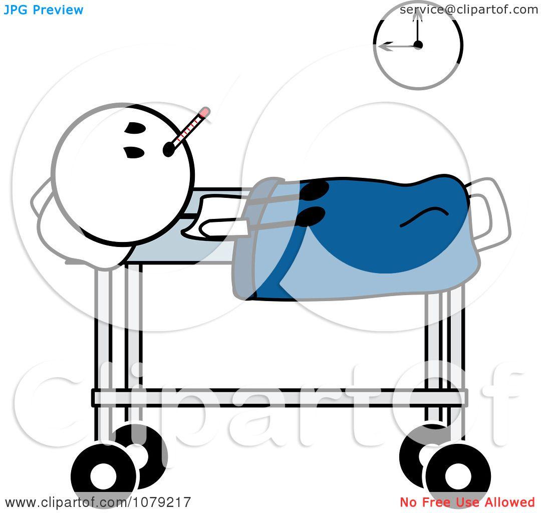 Hospital Bed Clip Art