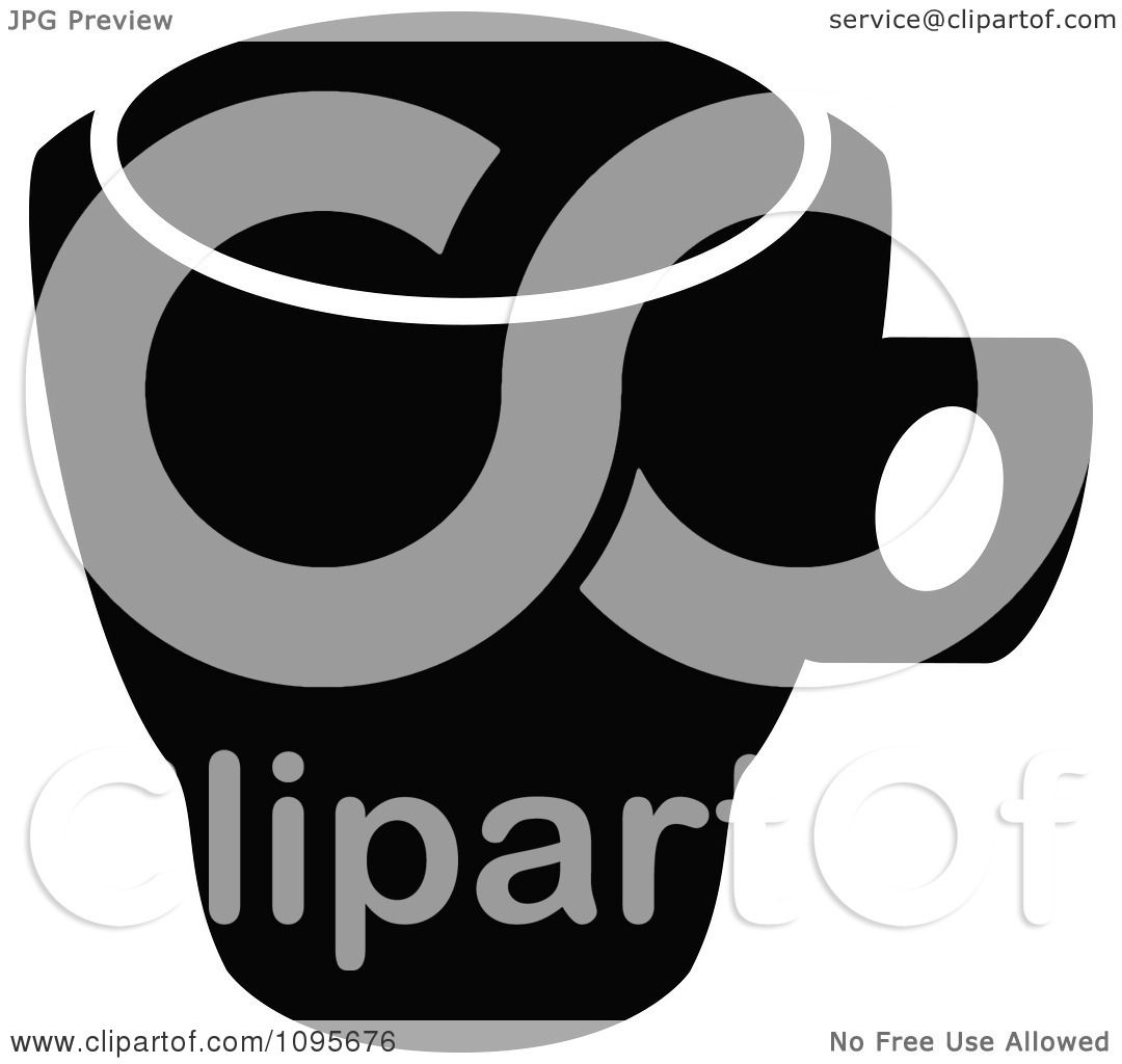 mug clipart black and white. clipart silhouetted black and white coffee mug 1 - royalty free vector illustration by frisko