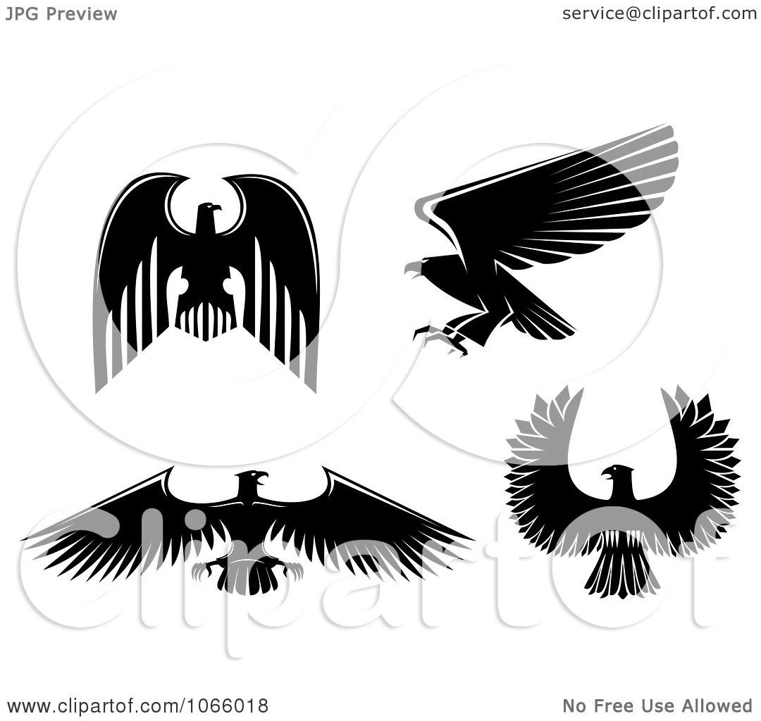 Clipart Silhouetted Eagles 1  Eagle Wing Silhouette