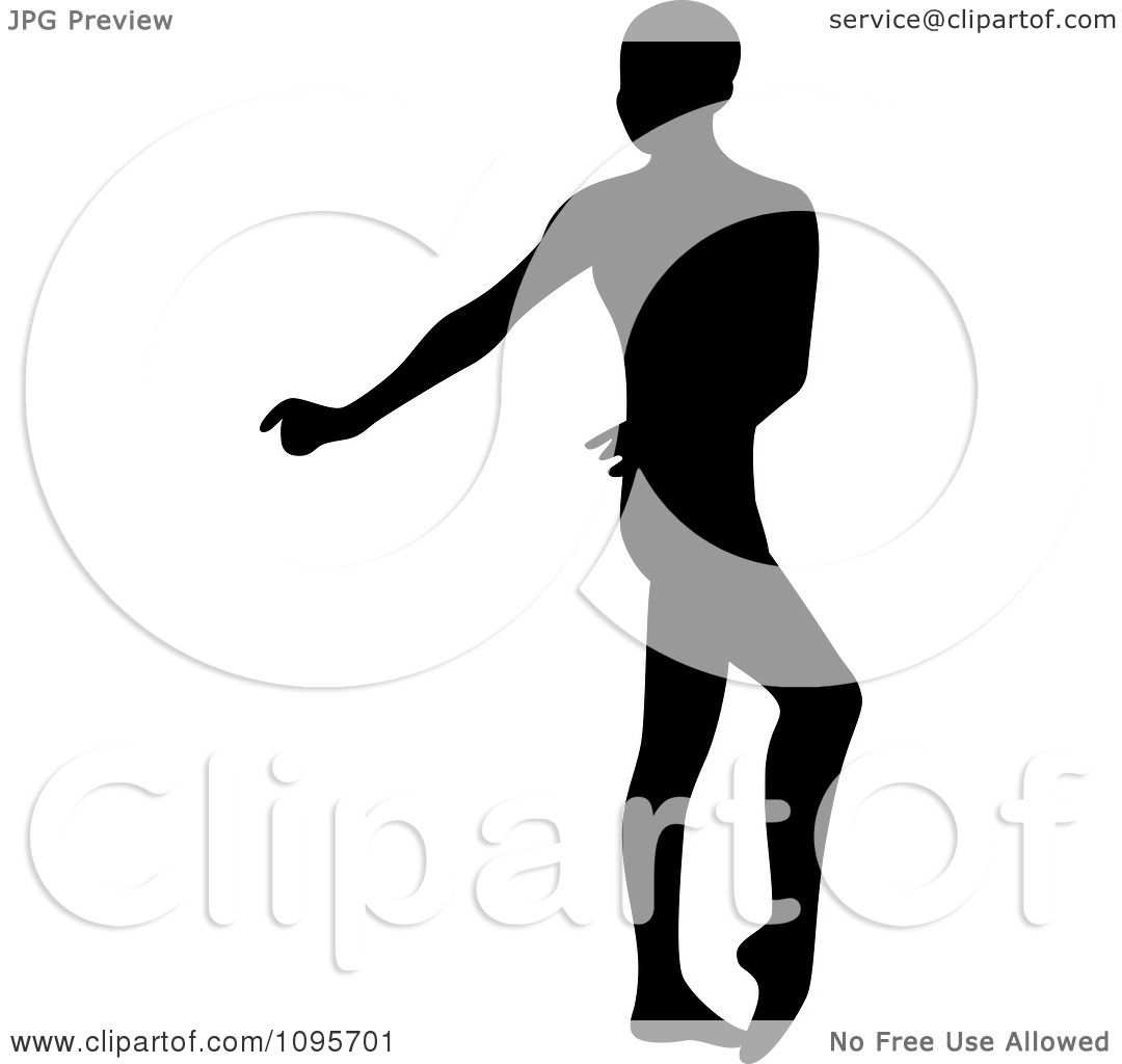 clipart silhouetted male ballerino ballet dancer dancing 3 royalty free vector illustration by frisko