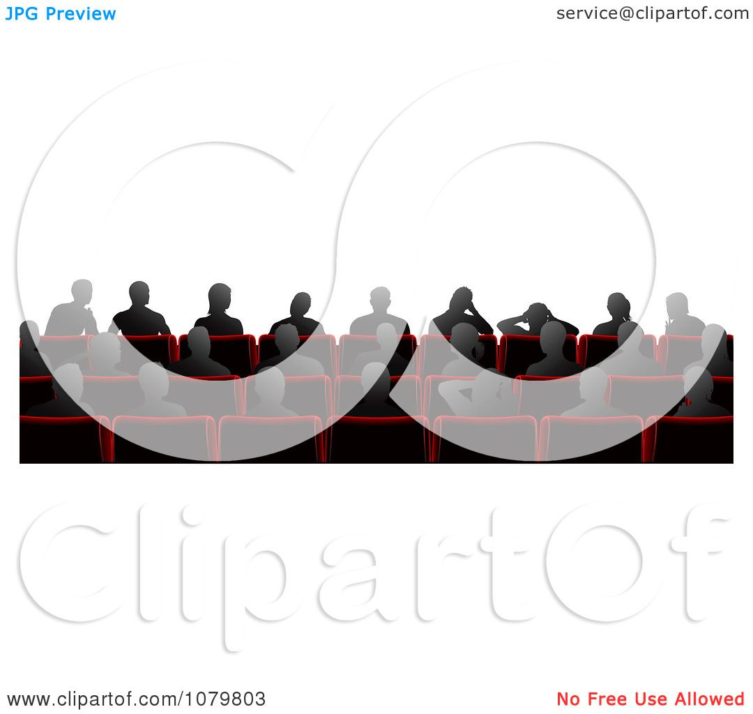 Clipart Silhouetted People Sitting In Cinema Theater