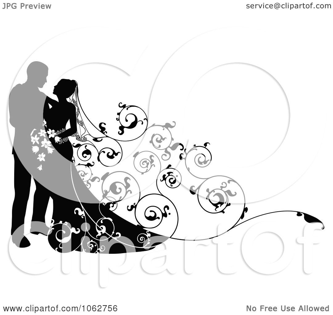 Png Wedding Clipart Clipart Silhouetted Wedding