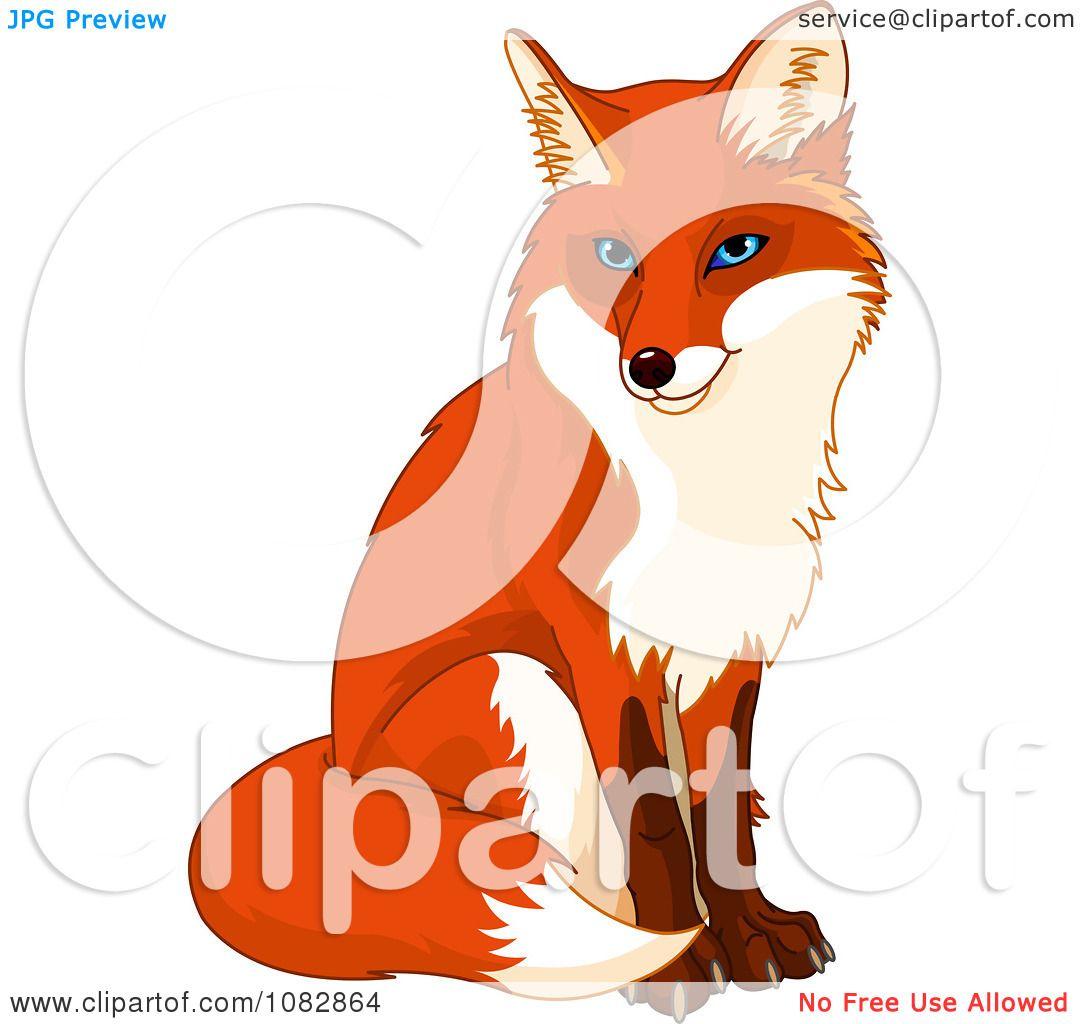 Clipart Sitting Handsome Fox