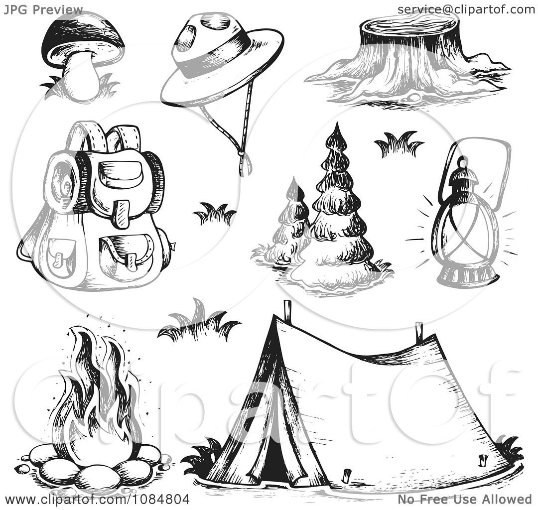 how to draw a campsite