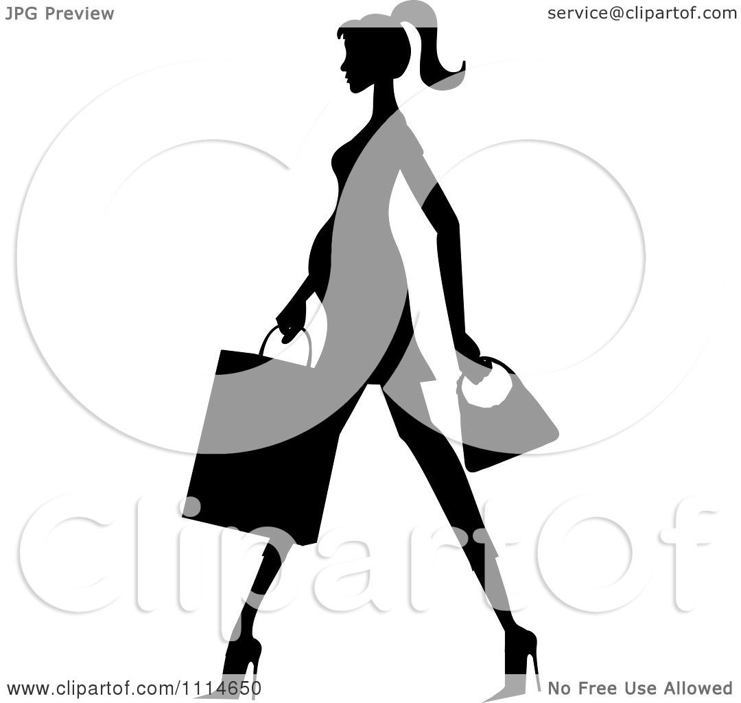 Clipart Slender Silhouetted