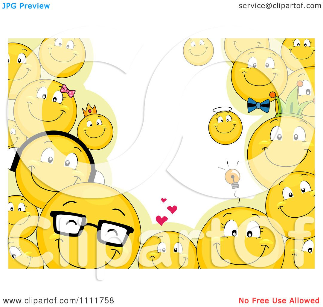 Clipart Smiley Emoticon Frame And Copyspace Royalty Free