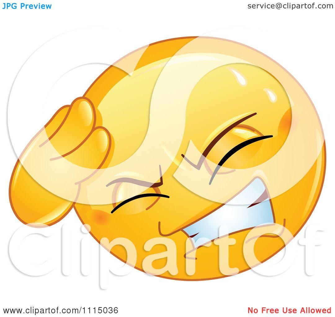 Clipart Smiley Face With A Headache Royalty Free Vector