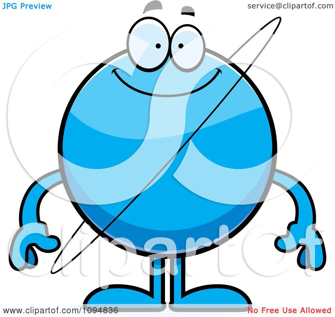 clipart smiling planet uranus royalty free vector illustration by rh clipartof com Cartoon Uranus Planet Uranus Color