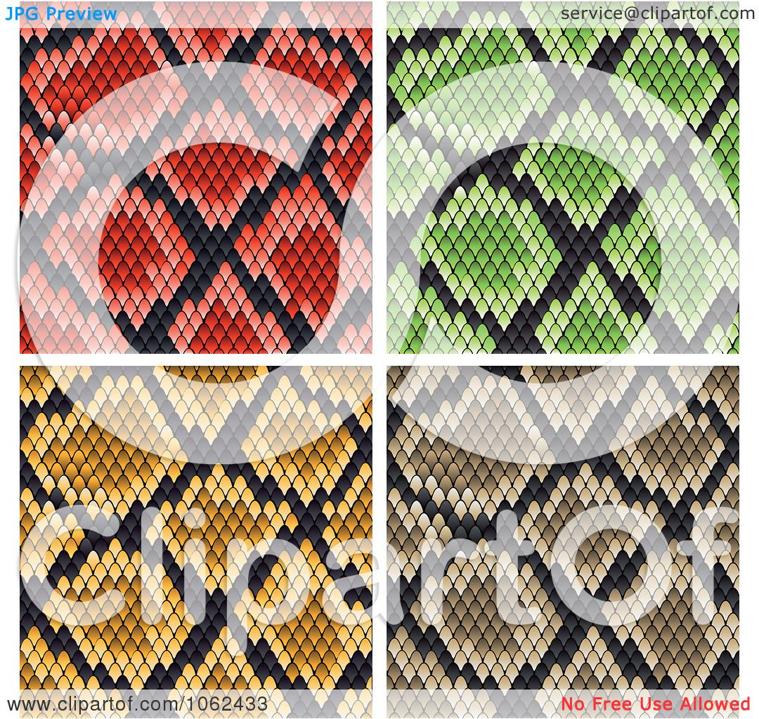 Clipart Snake Print Pattern Backgrounds Digital Collage