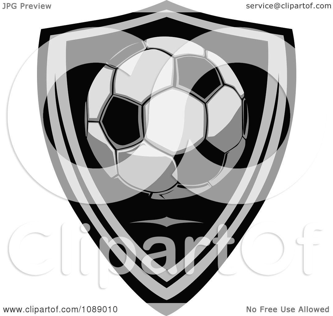 Clipart Soccer Ball Shield Badge Royalty Free Vector