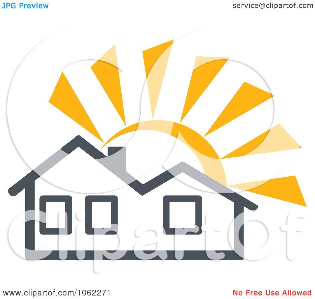 Clipart Solar Powered House 1 - Royalty Free Vector ...