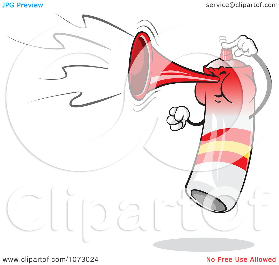 Clipart Spain Air Horn Blowing And Jumping