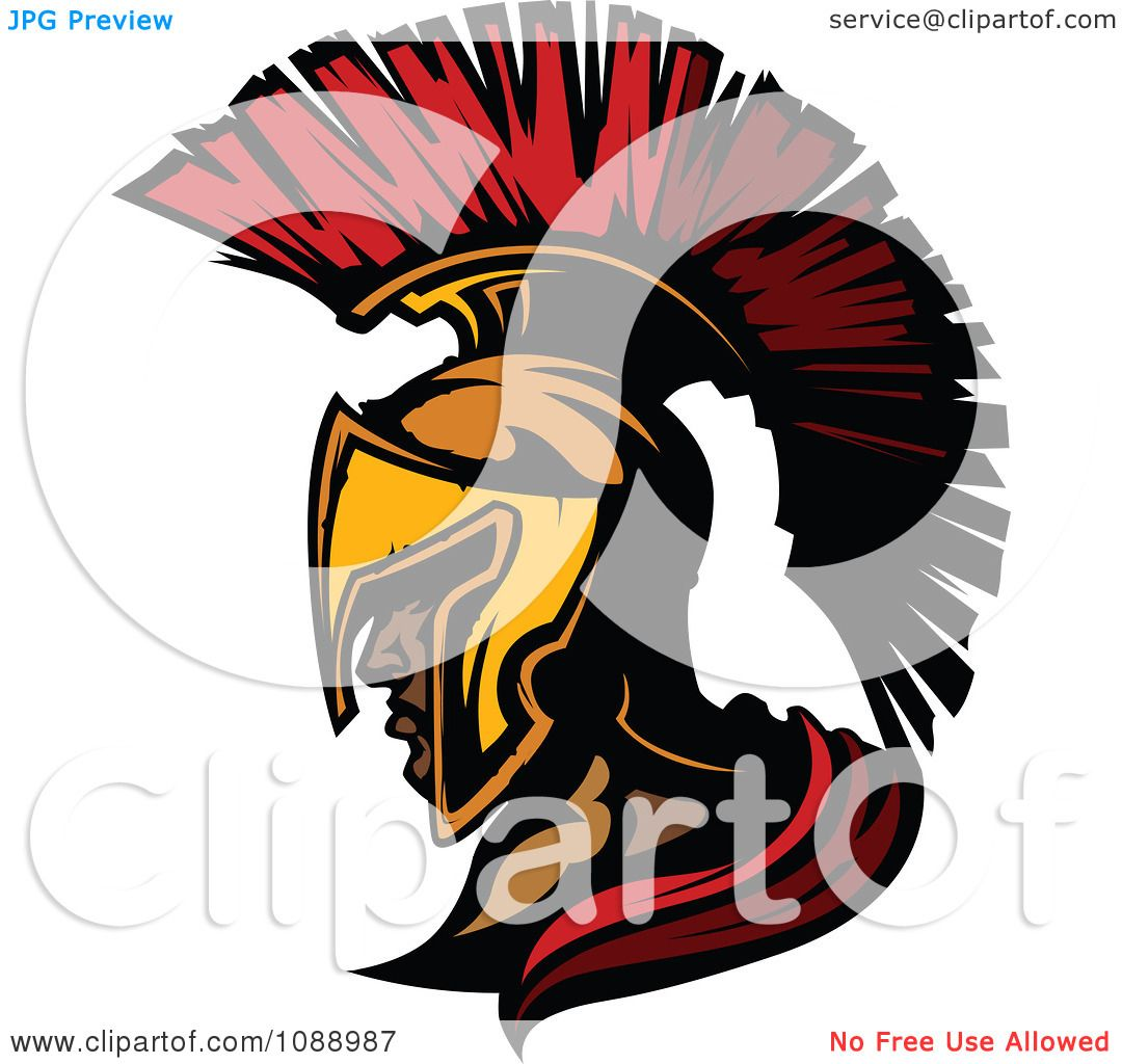 Clipart Spartan Roman Soldier Head And Helmet Royalty